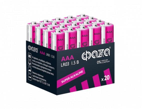 Батарейка Фаzа LR03 Super Alkaline Multibox - 20
