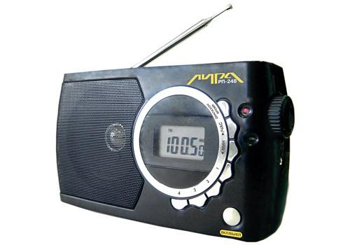 Радиоприемник Лира РП-248 (FM,УКВ,часы,220v/3*R20)