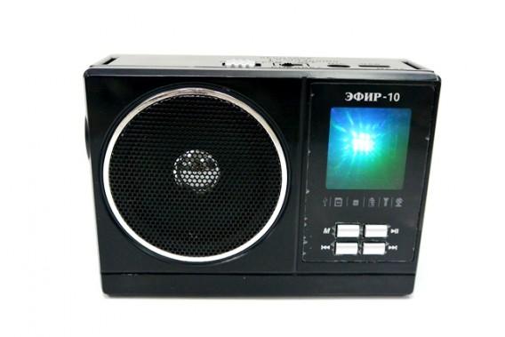 Радиоприемник Эфир - 10 (USB,SD,microSD,акб+220v+2*R20)