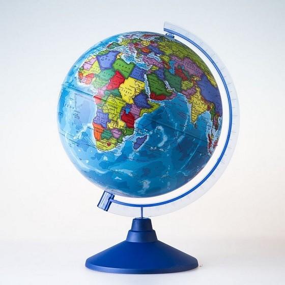 Глобус с подсветкой 25см полит карта (2920015) (2хАА)
