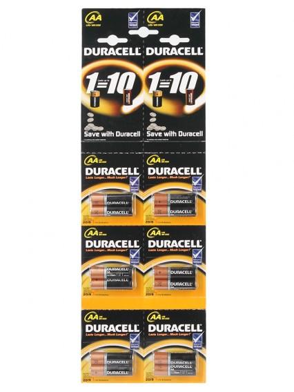Батарейка Duracell LR6 промо BL 12/120 (6*2)