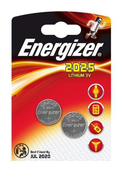 Батарейка Energizer CR2025 BL 2/20