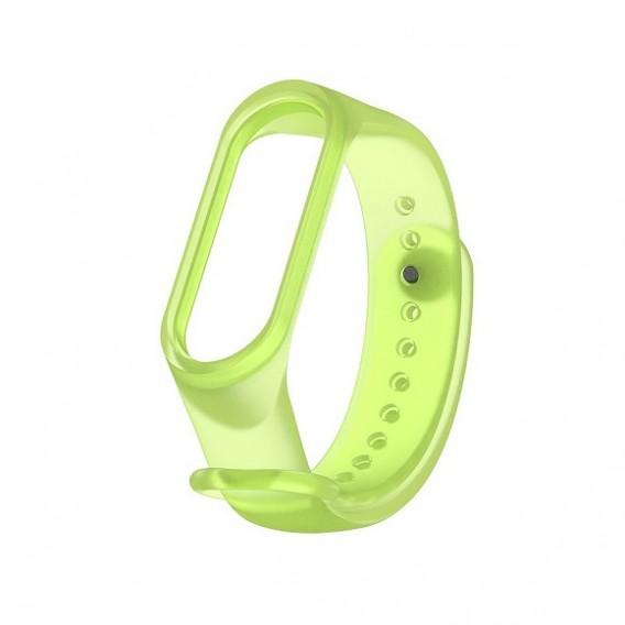 Ремешок для фитнес-браслета Mi5 прозрачный зеленый (128698)