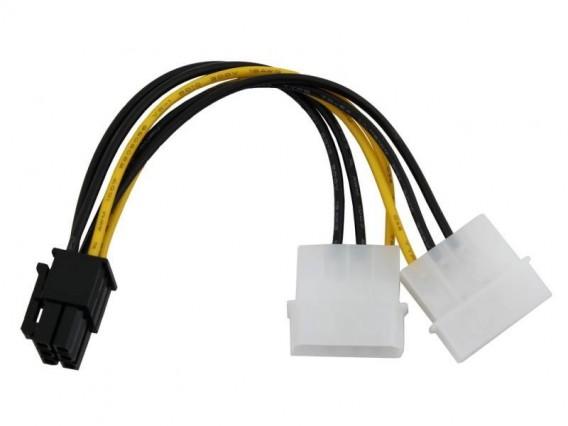 Кабель питания для видеокарт PCI-E, 2big->6pin Orient C391