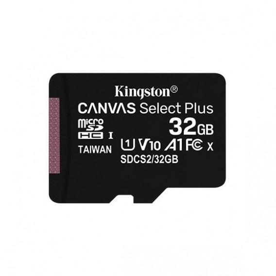 Карта памяти microSDHC Kingston 32Gb Class10 CanvasSelect Plus A1 без ад