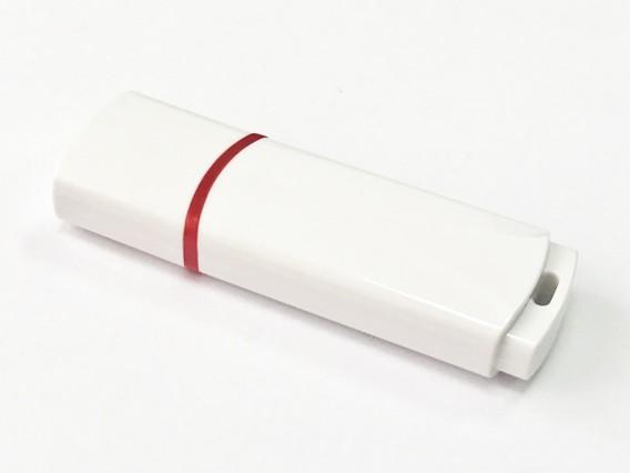 Флэш-диск под нанесение 8Gb Белый пластик SmartBuy