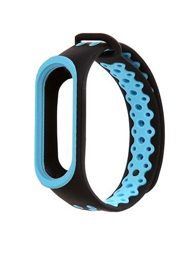 Ремешок для фитнес-браслета Mi3\Mi4 черно-синий (90367)