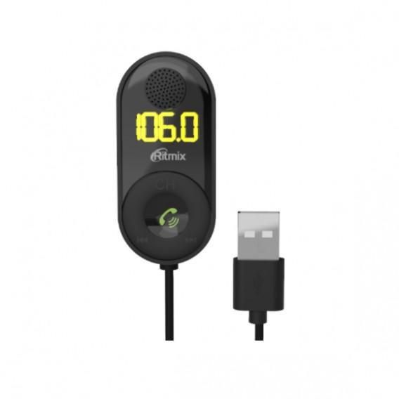 MP3 FM модулятор автомоб. Ritmix FMT-B400 (USB, Bluetooth)