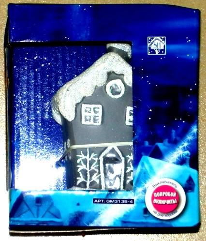 Стеклянный дом с подсветкой RGB декоративный 6*5.6*10.8см (GM3135-4)
