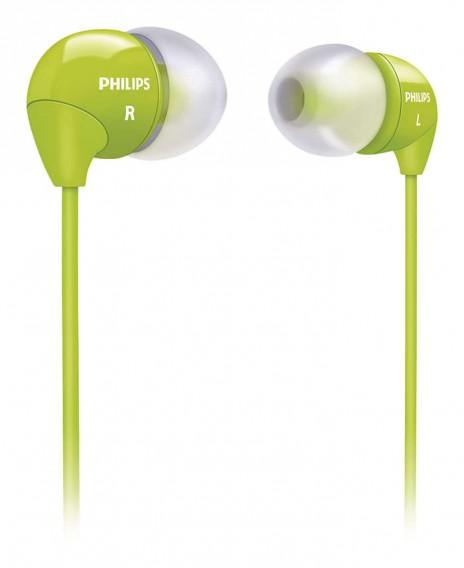 Наушники Philips SHE3590 GN вакуумные желтые