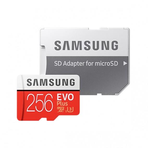 Карта памяти microSDHC Samsung 256Gb Class10 Evo Plus UHS-I U3 с адапт
