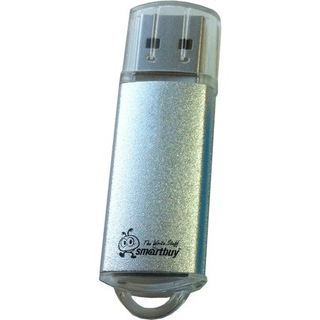 Флэш-диск SmartBuy 4GB USB 2.0 V-Cut серебро