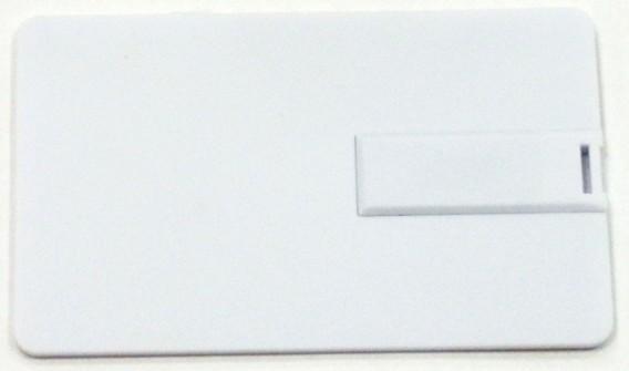 Флэш-диск под нанесение 4Gb Кредитная карточка белая (U504Е)