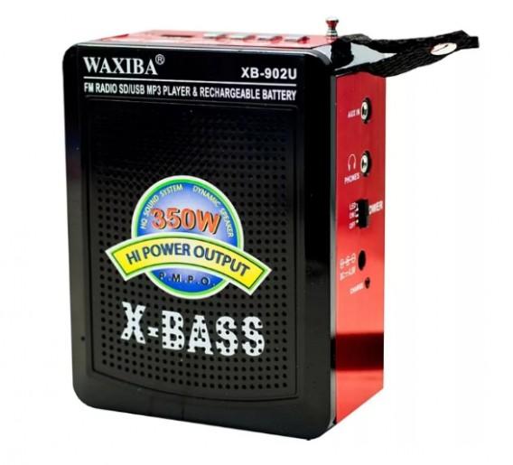 Радиоприемник XB-902 (USB/SD/FM) красный Waxiba
