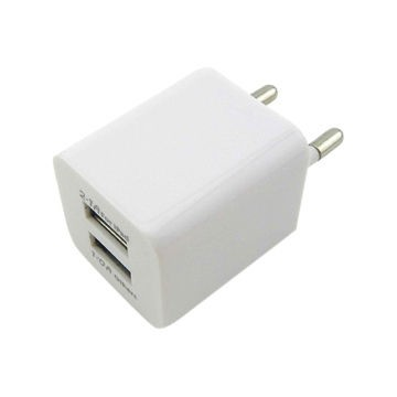 Адаптер 220V->2*USB 1А-2.1А SU-100