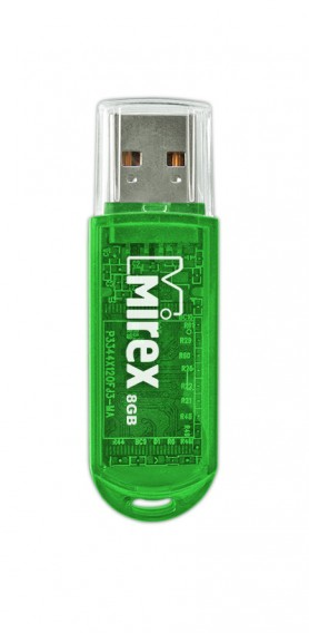 Флэш-диск Mirex 8Gb USB 2.0 ELF зеленый