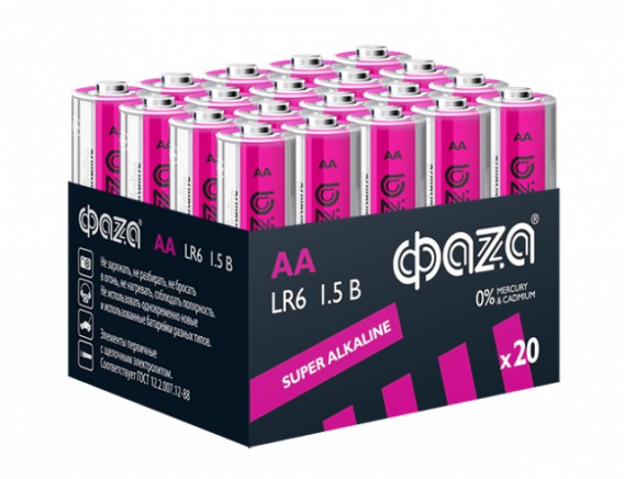 Батарейка Фаzа LR6 Super Alkaline Multibox - 20