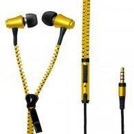 Наушники MP3 Zipper золотистая молния