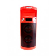 Колонка портативная CN-S965FM (USB /SD/FM/дисплей/пульт) красная