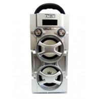 Колонка портативная     CN-S966FM  (USB /SD/FM/дисплей/пульт) серебро