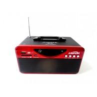 Колонка портативная CN-S2025FM-BT (USB /SD/FM/дисплей/пульт) красная