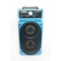 Колонка портативная CN-S2098BT (USB /SD/FM/дисплей/пульт) синяя