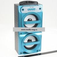 Колонка портативная MS-159BT (Bluetooth/USB /SD/FM/дисплей) синяя