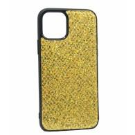 Чехол для iPhone 11 золото (блестки)