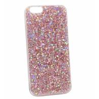 Чехол для iPhone 7\8 розовый (блестки)