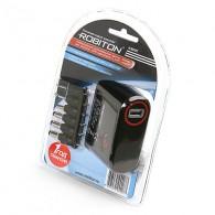 Авто-адаптер Robiton K3000S ( 3-13,8 V, 3000mA) mini+micro