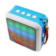 Мини-колонка Цветомузыка WS-Y99B (Bluetooth,Fm,MicroSD,USB) бело-голубая