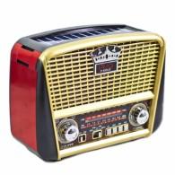 Радиоприемник P-455US (USB/microSD/Fm/AUX/акб/R*20/солн.панель) золото