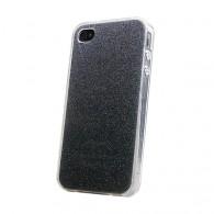 Чехол для iPhone 4 силиконовый серебро Glamour