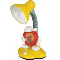 Светильник Camelion KD-388 С05 желтый с часами Е27