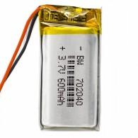 Аккумулятор li-pol 3.7V 600 mAh (70*20*40) литий-полимер