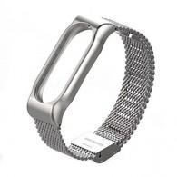 Ремешок для фитнес-браслета Mi2 металл серебро (тонкое плетение)