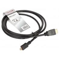 Кабель HDМI - microHDMI 1,8м TV-COM 1.4V+3D