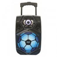 "Колонка портативная 8"" Q8 (Bluetooth/USB /microSD/ПДУ/1 беспр.микр) черная"