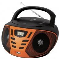 CD-магнитола BBK BX193U cd+радио+USB(mp3) черный\оранж