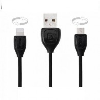 Кабель USB- lightning/microUSB Remax Lesu 2м (2 в 1) RC-050t