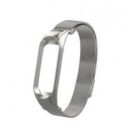 Ремешок для фитнес-браслета Mi3\Mi4 металл серебро (тонкое плетение)