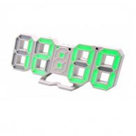 Часы настольные VST-883-4 зел.цифры (220V)