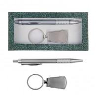 Подарочный набор (ручка+брелок серебристые) (1124063)