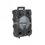 "Колонка портативная 8"" EL8-08ch (Bluetooth/USB /microSD/FM/пульт/микроф) черная"