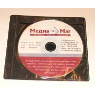 Конверт пластик. на 2 CD VS черный / 100шт.