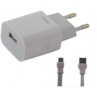 Адаптер 220V->USB 2.4A Remax Proda RP-U14 + кабель microUSB