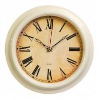 Часы настенные Бюрократ R74P D21см слоновая кость