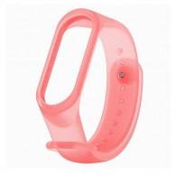 Ремешок для фитнес-браслета Mi3\Mi4 прозрачный розовый (128696)