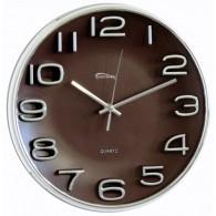 Часы настенные круглые корич. циферблат 7633 (1АА)