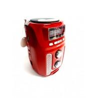 Радиоприемник M-U30 (USB+microSD,фонарь) красный